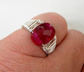 Faceted Red Zircon W..
