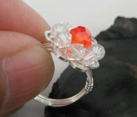 Wire wrapped Orange ..